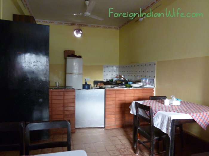From the tables, guests have a clear view into the kitchen - which was very clean.