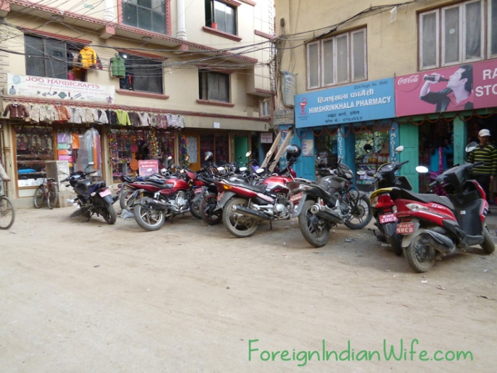 Probably considered a lot of motorcycles to one who has never been to South Asia.
