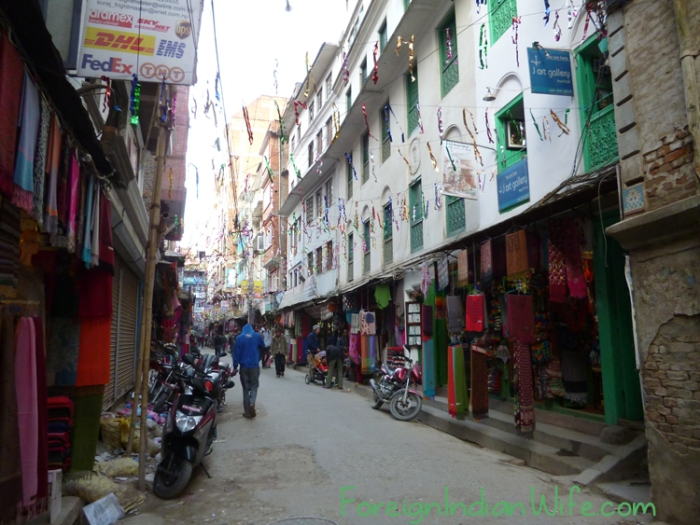 streets of kathmandu nepal after earthquake
