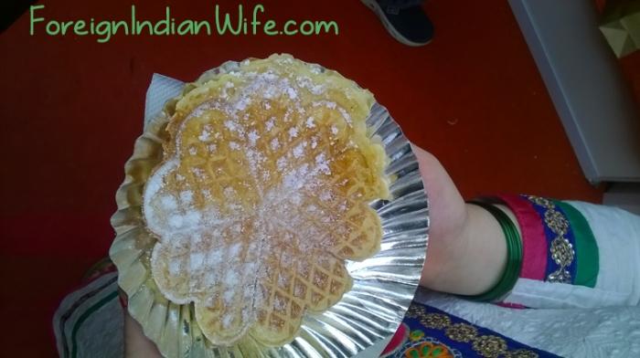 German Christmas Market Delhi waffle