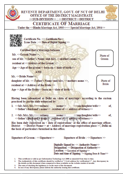how to get marriage registration certificate in delhi